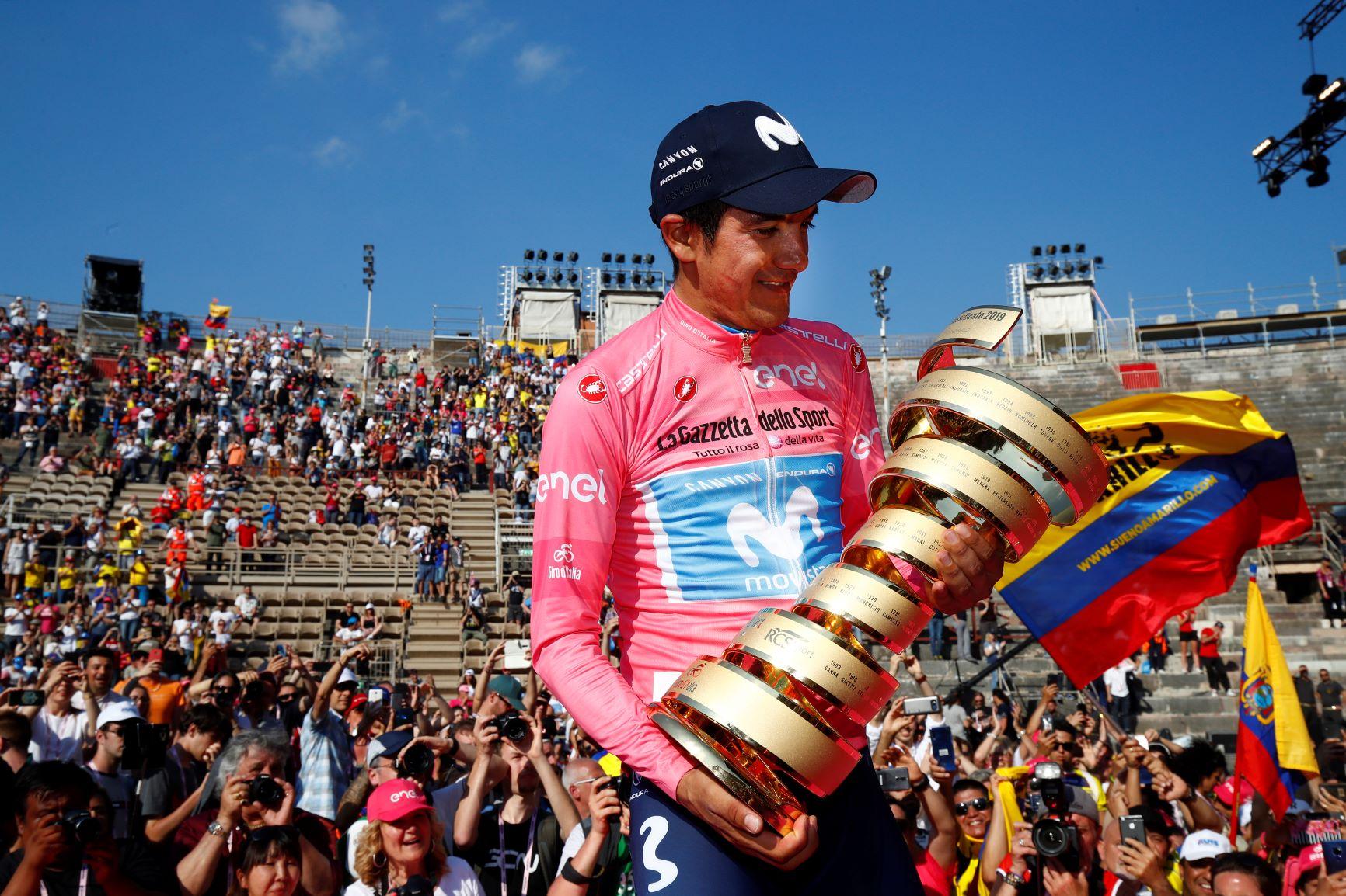 Richard Carapaz campeón del Giro de Italia; 'Superman' López terminó séptimo