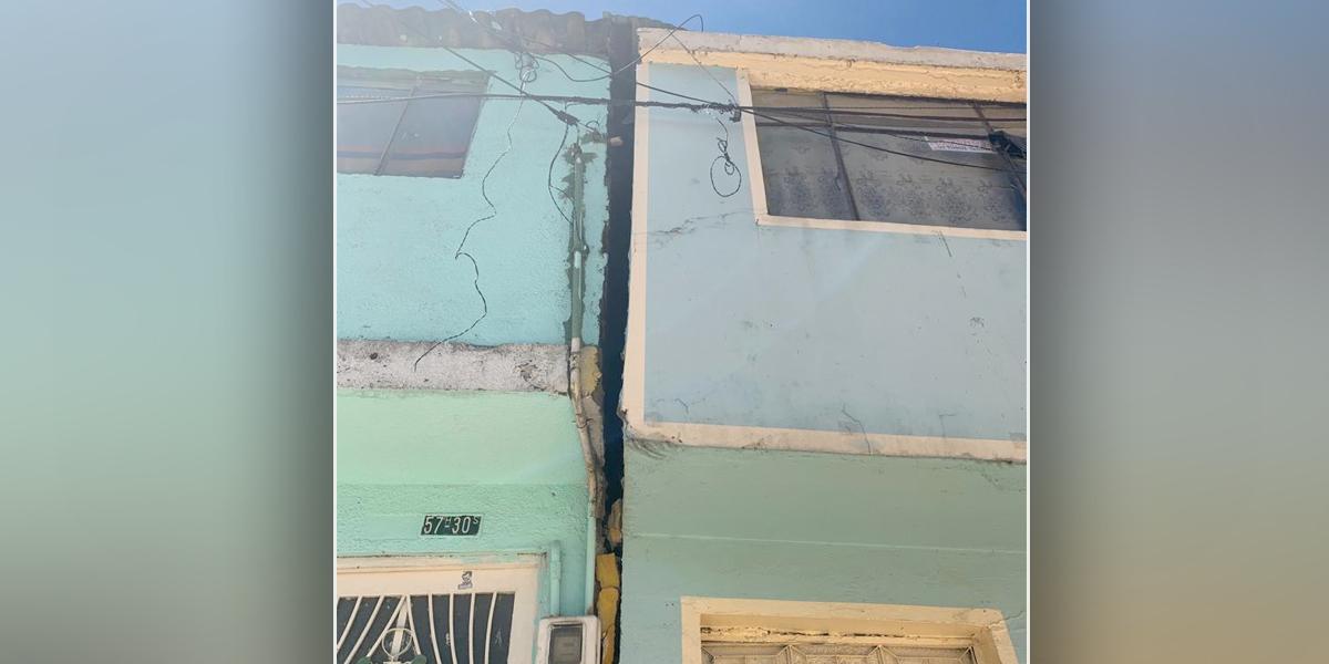En riesgo, 20 casas por obra inconclusa del acueducto en el barrio Class Roma de Bogotá