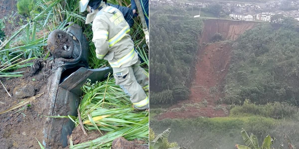 Al menos cuatro muertos por derrumbe en la vía La Romelia – El Pollo, cerca de Pereira