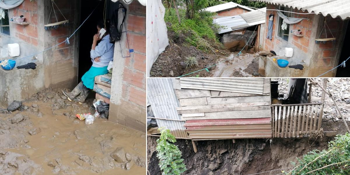 20 viviendas afectadas por derrumbe en Caldas, Antioquia