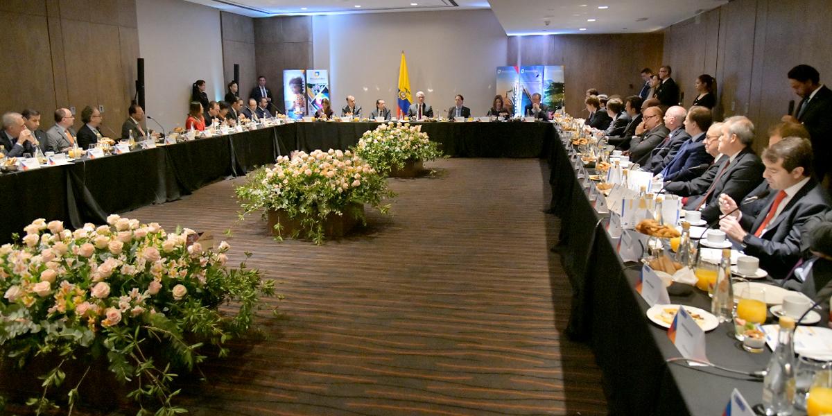 Colombia será uno de los grandes jugadores en la reconstrucción de Venezuela: Duque a empresarios argentinos