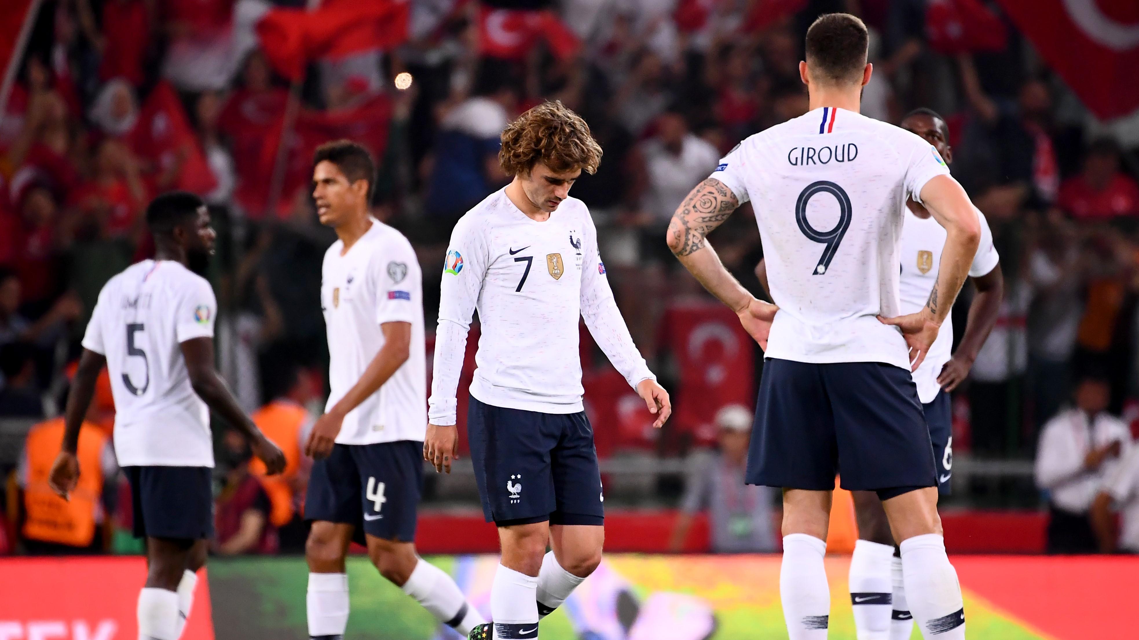 Francia cayó sorpresivamente ante Turquía en las Eliminatorias rumbo a la Eurocopa