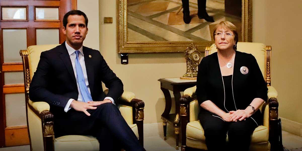 Guaidó se reúne con Bachelet en la Asamblea Nacional venezonala