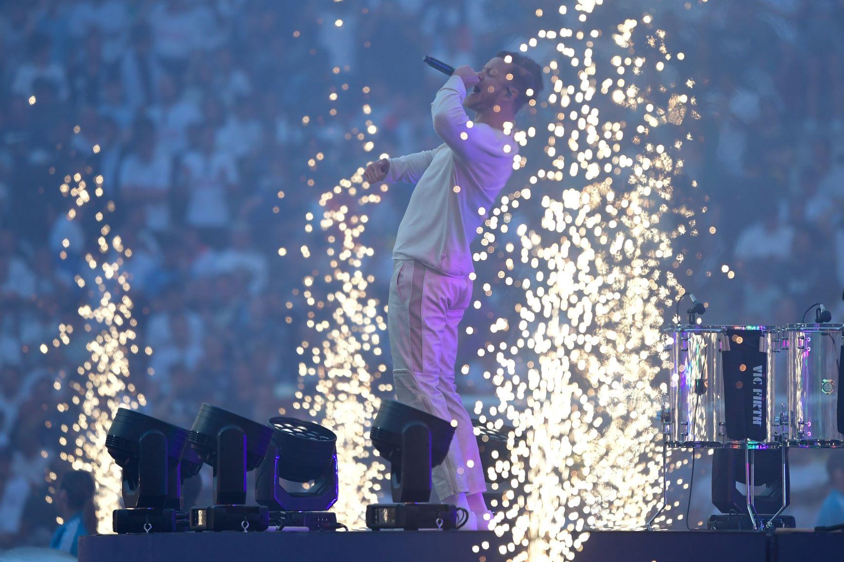 [Fotos] Así fue la presentación de Imagine Dragons en la final de la Champions League