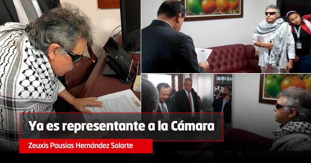 Jesús Santrich se posesiona como representante a la Cámara