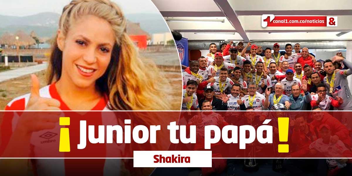 El video de Shakira que adoraron los hinchas del Junior tras su novena estrella