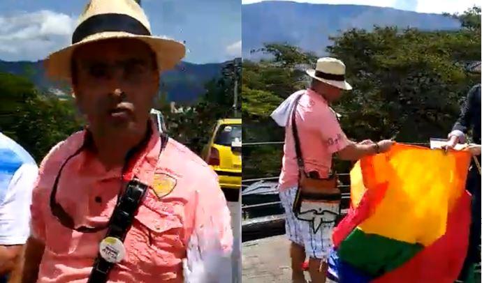 Este sería el castigo para el uribista que destruyó una bandera LGBTI en Antioquia