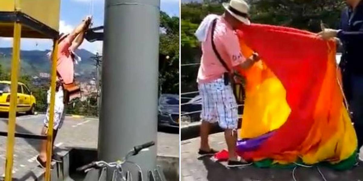 Procuraduría pide investigar a ciudadano que destruyó bandera de la comunidad LGTBI