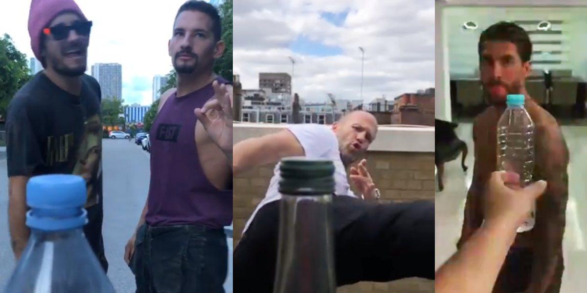 Famosos se unieron al Bottle Cap Challenge y reunimos los mejores videos