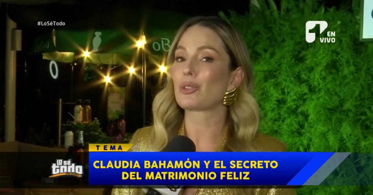 Claudia Bahamón revela el secreto de su matrimonio feliz con Simón Brand