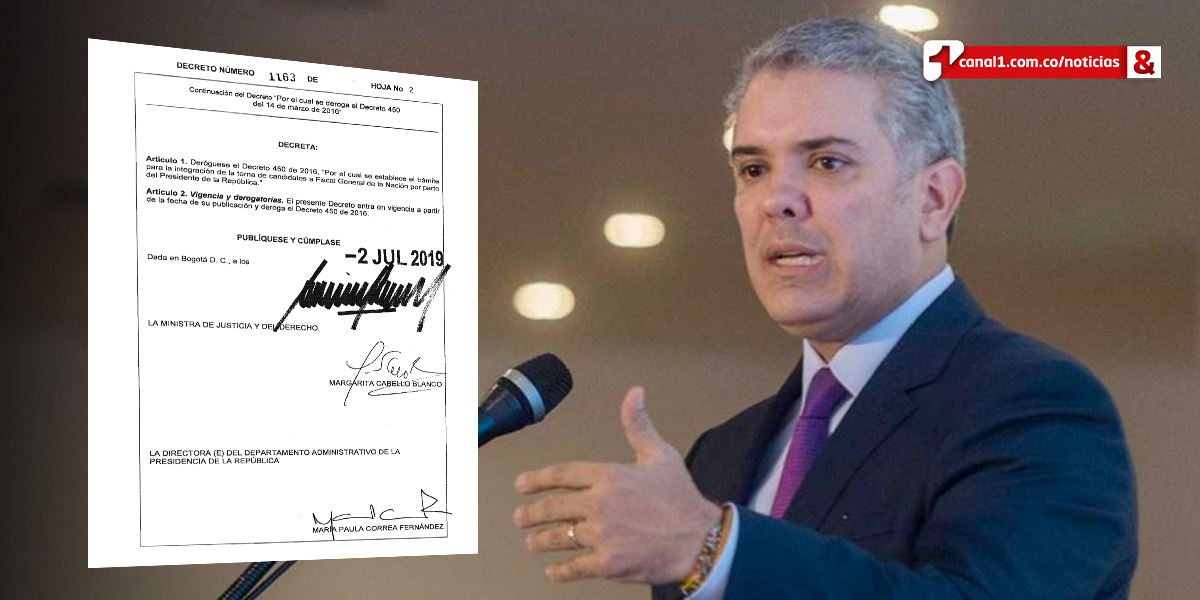 Pdte. Duque firma decreto que modifica el procedimiento para elegir fiscal general