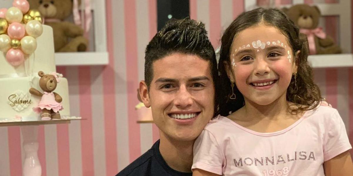 El tierno regalo de la hija de James Rodríguez por su cumpleaños