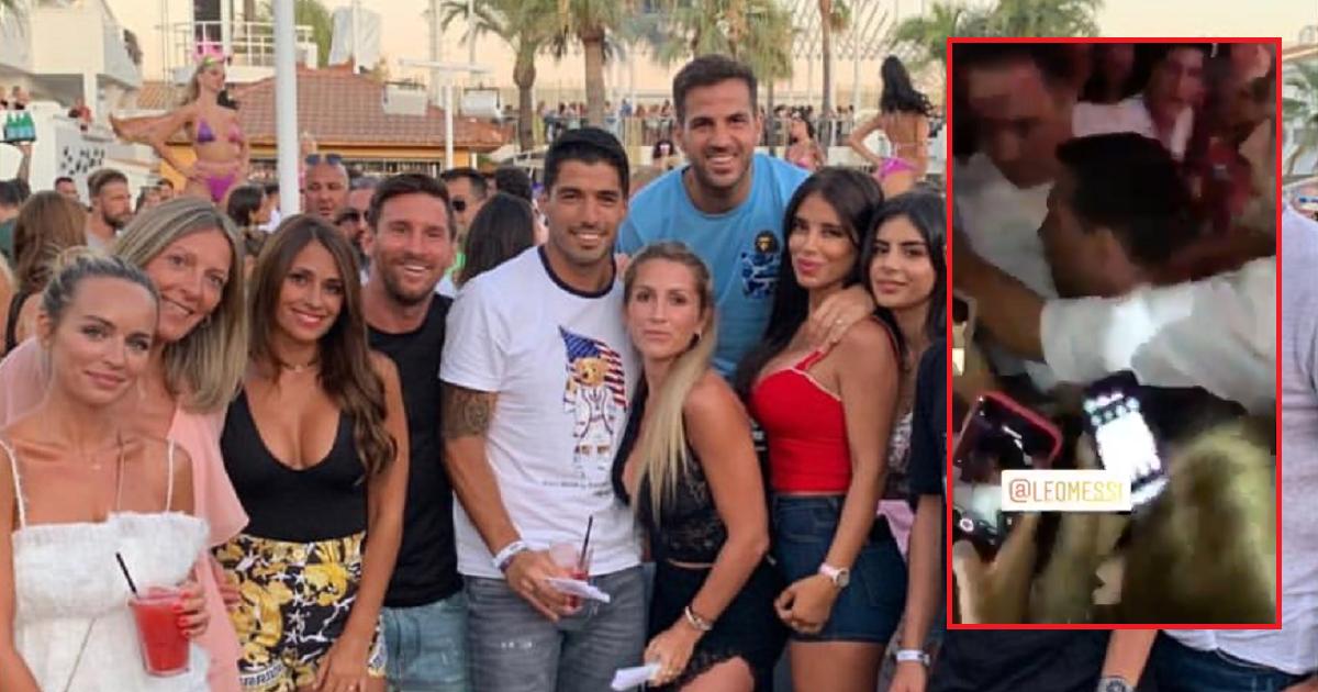 Filtran video de Messi forcejeando en fiesta en Ibiza; él niega que hubo pelea