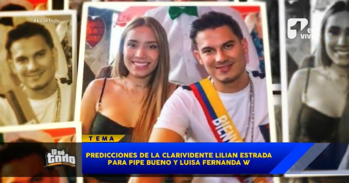 """""""Luisa Fernanda W quedará embarazada de Pipe Bueno"""": clarividente Lilian Estrada"""