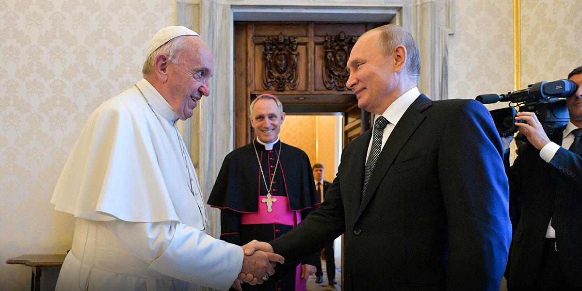 Vladímir Putin se reúne con el papa Francisco en el Vaticano