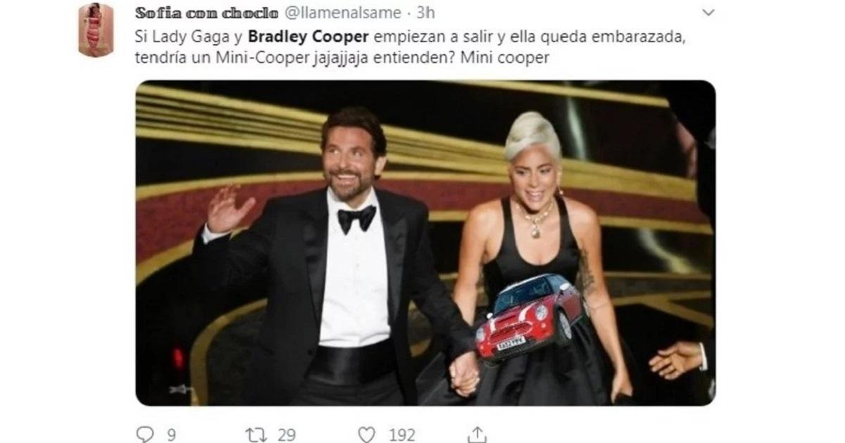 Se habría confirmado que Bradley Cooper y Lady Gaga viven juntos, y los memes estallaron
