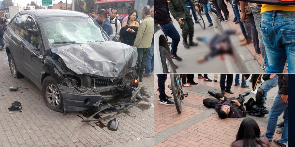Dos muertos y seis heridos deja camioneta que arrolló a peatones en Suba