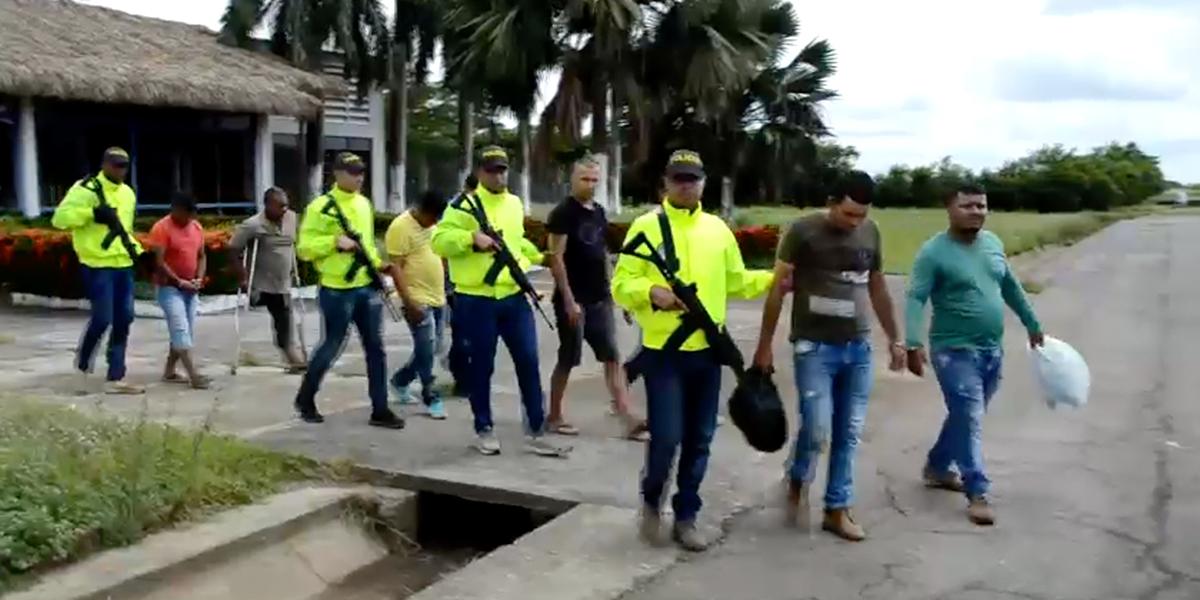 Capturan a 16 integrantes de la estructura criminal los 'Caparros' en Antioquia