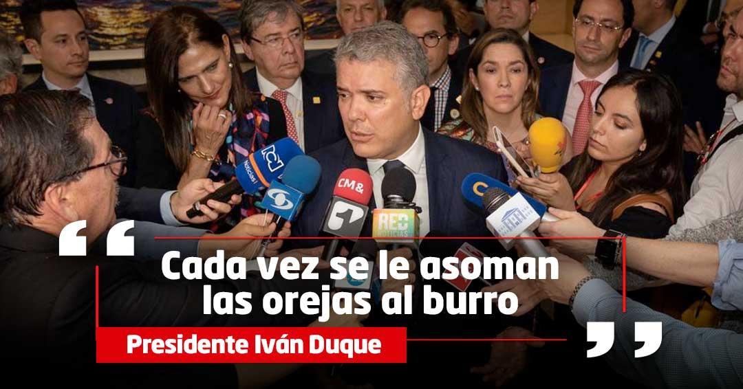 'Comete la burrada de seguir protegiendo al terrorismo': Duque responde a Maduro