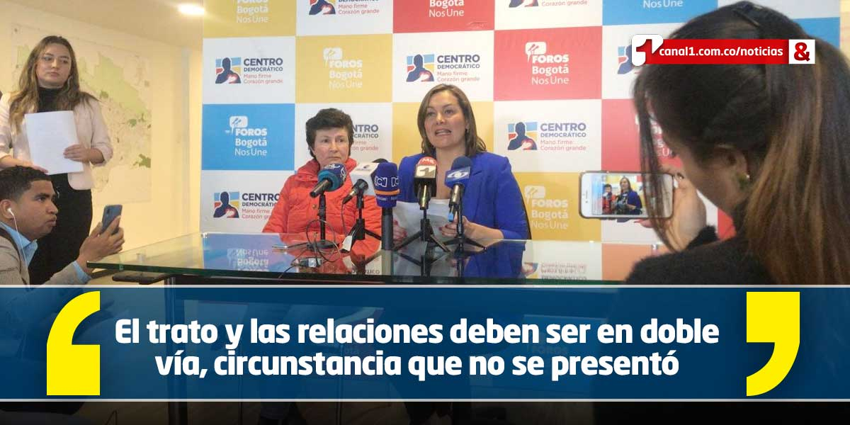 Ángela Garzón renuncia al Centro Democrático y a curul en el Concejo de Bogotá