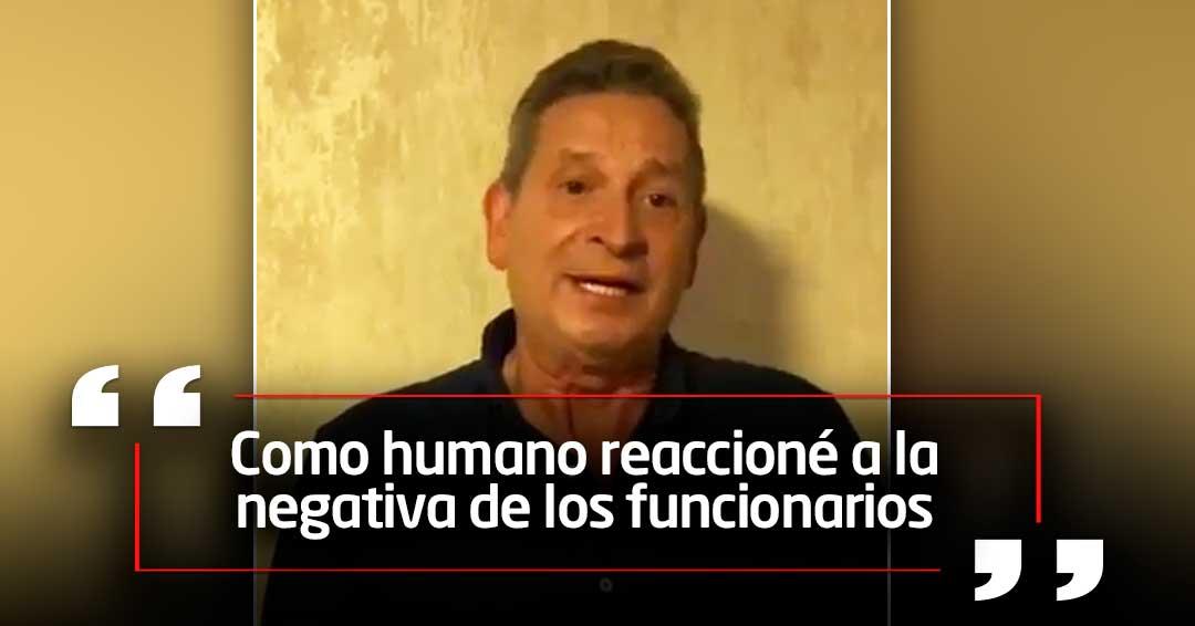 Darío Gómez explica su reacción en aeropuerto de Pasto