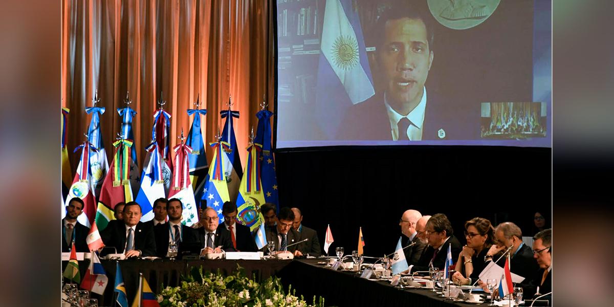 Grupo de Lima reafirma su apoyo a Guaidó y apela a elecciones en Venezuela