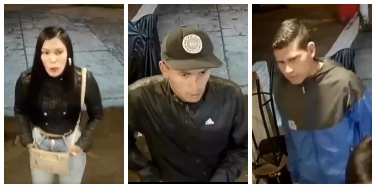 En video quedó registrado el atraco de estos delincuentes a un local de comidas