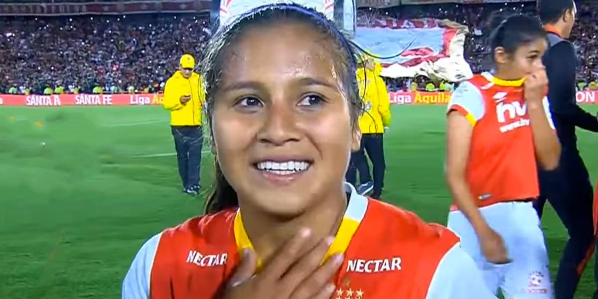 Leicy Santos se despide con honores de Santa Fe antes de irse al Atlético de Madrid