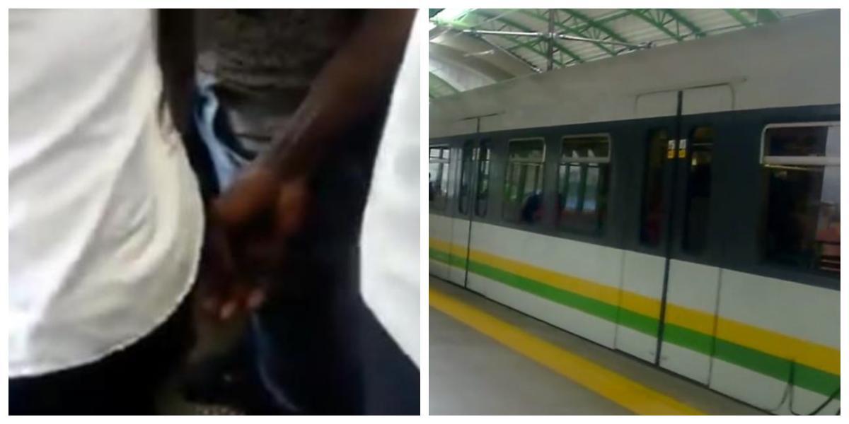 """(VIDEO) """"La estás tocando"""", valiente mujer enfrenta a acosador de pasajera en Metro de Medellín"""