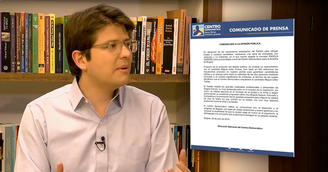 Centro Democrático respalda candidatura de Miguel Uribe para Alcaldía de Bogotá