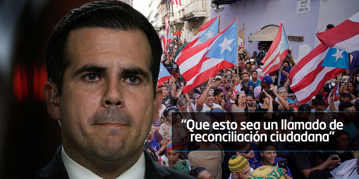 Renuncia el gobernador de Puerto Rico, en medio de protestas por sus explosivos chats