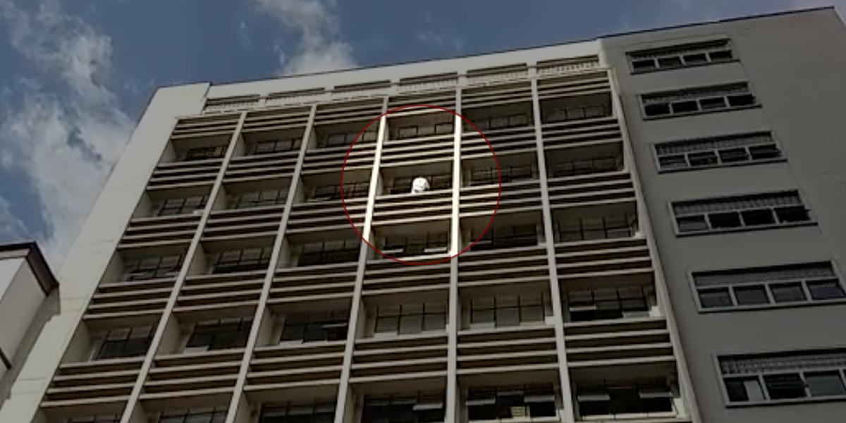 Hombre quiso lanzarse del piso 10 del Palacio Nacional en Pereira