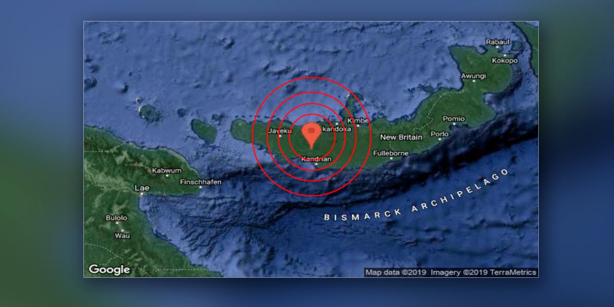 Terremoto de magnitud 6,2 sacude el este de Papúa Nueva Guinea