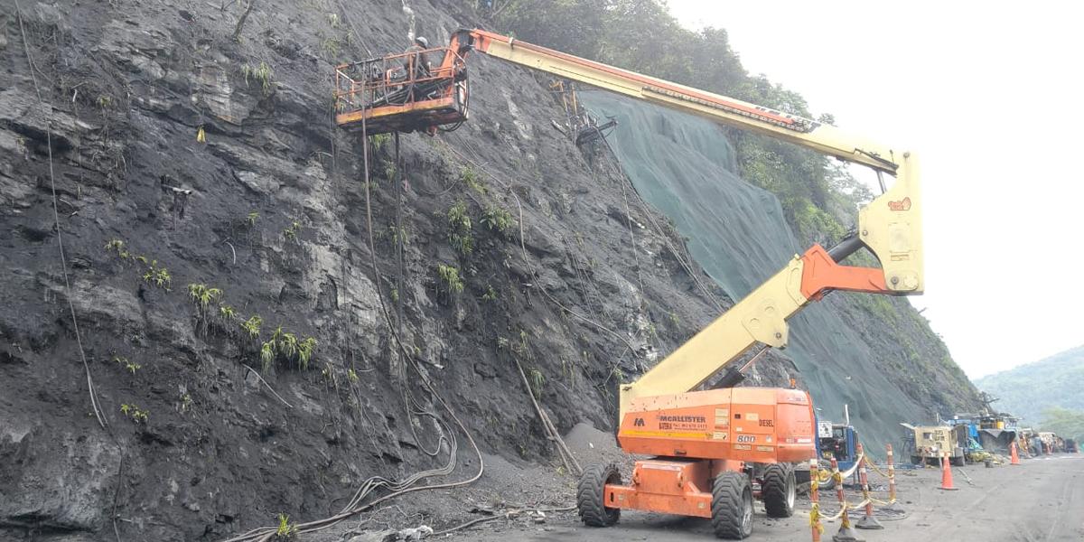 Inician obras de mitigación y estabilización en la vía Bogotá – Villeta