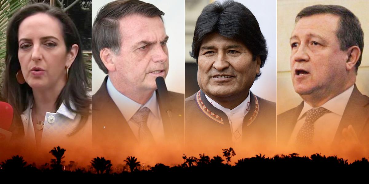 Centro Democrático defiende a Bolsonaro y culpa a Evo Morales de tragedia en la Amazonía