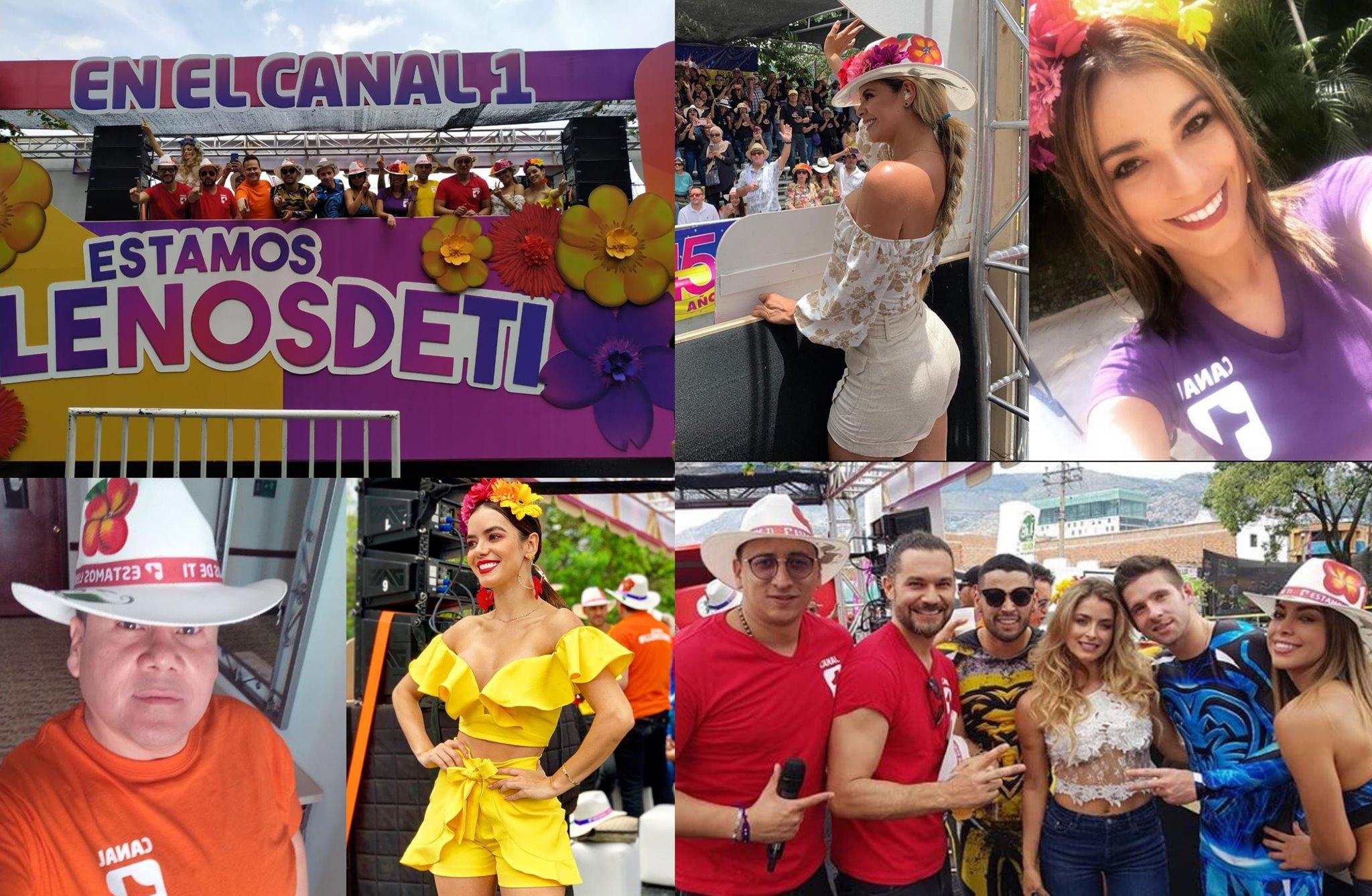 Así fue la participación del Canal 1 en el desfile de cierre de la Feria de las Flores