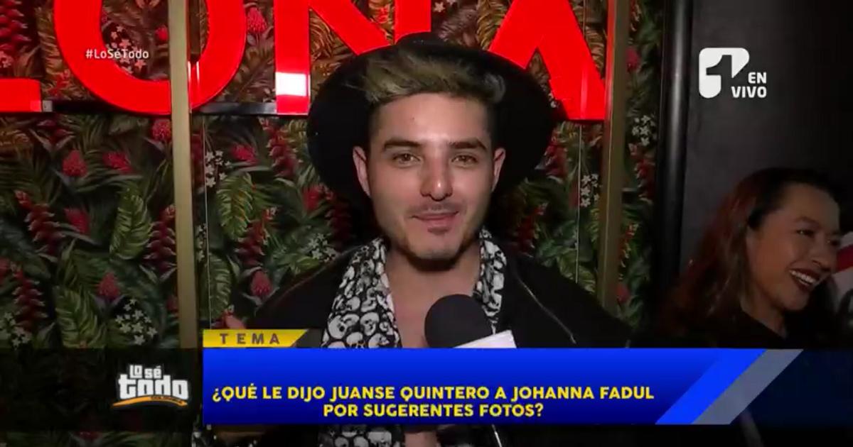 Juanse revela si realmente le incomodó que Johanna Fadul se desnudara en redes