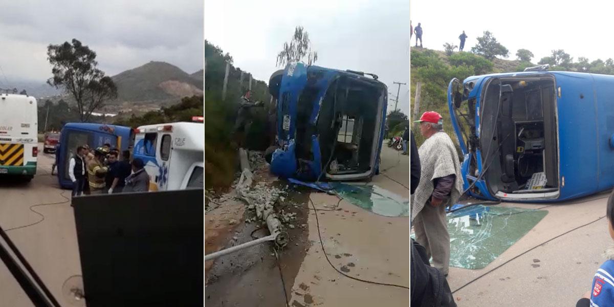 Al menos 17 heridos deja accidente de bus del SITP en Ciudad Bolívar