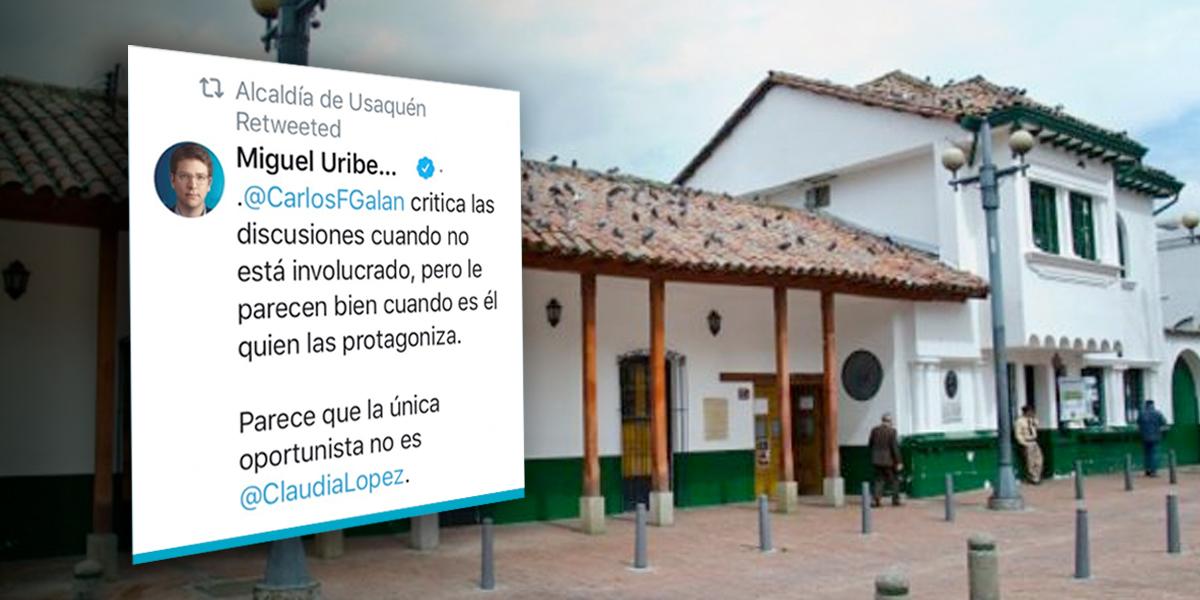 Alcaldía de Usaquén explica por qué retuiteó la pulla de Miguel Uribe