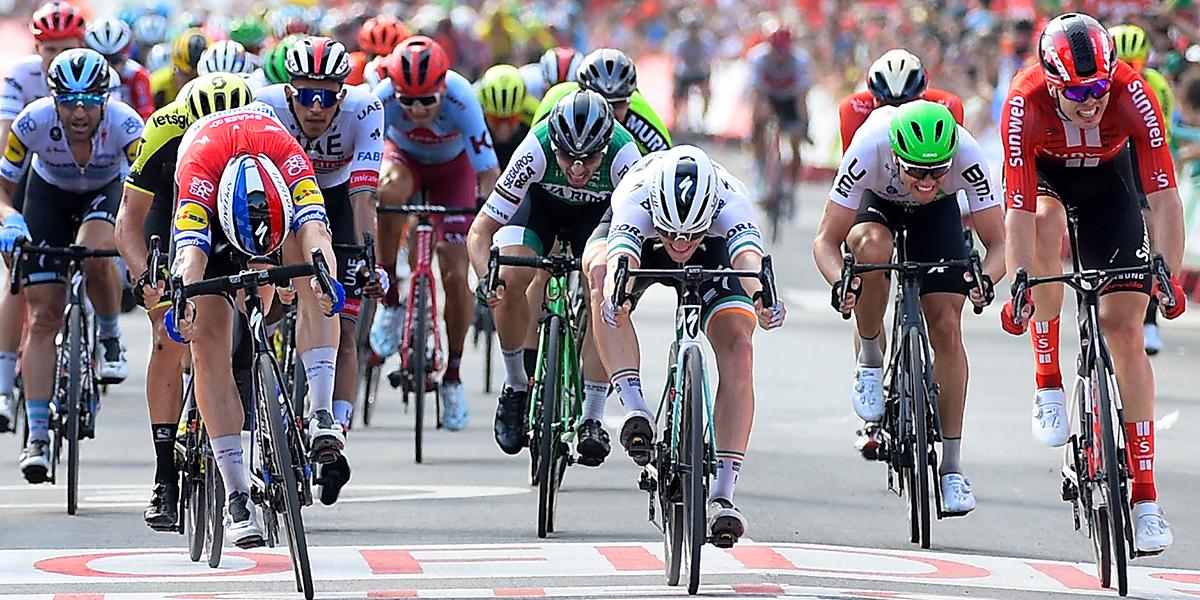 Fernando Gaviria, cuarto en la etapa 4 de la Vuelta a España; Nairo sigue segundo en la general