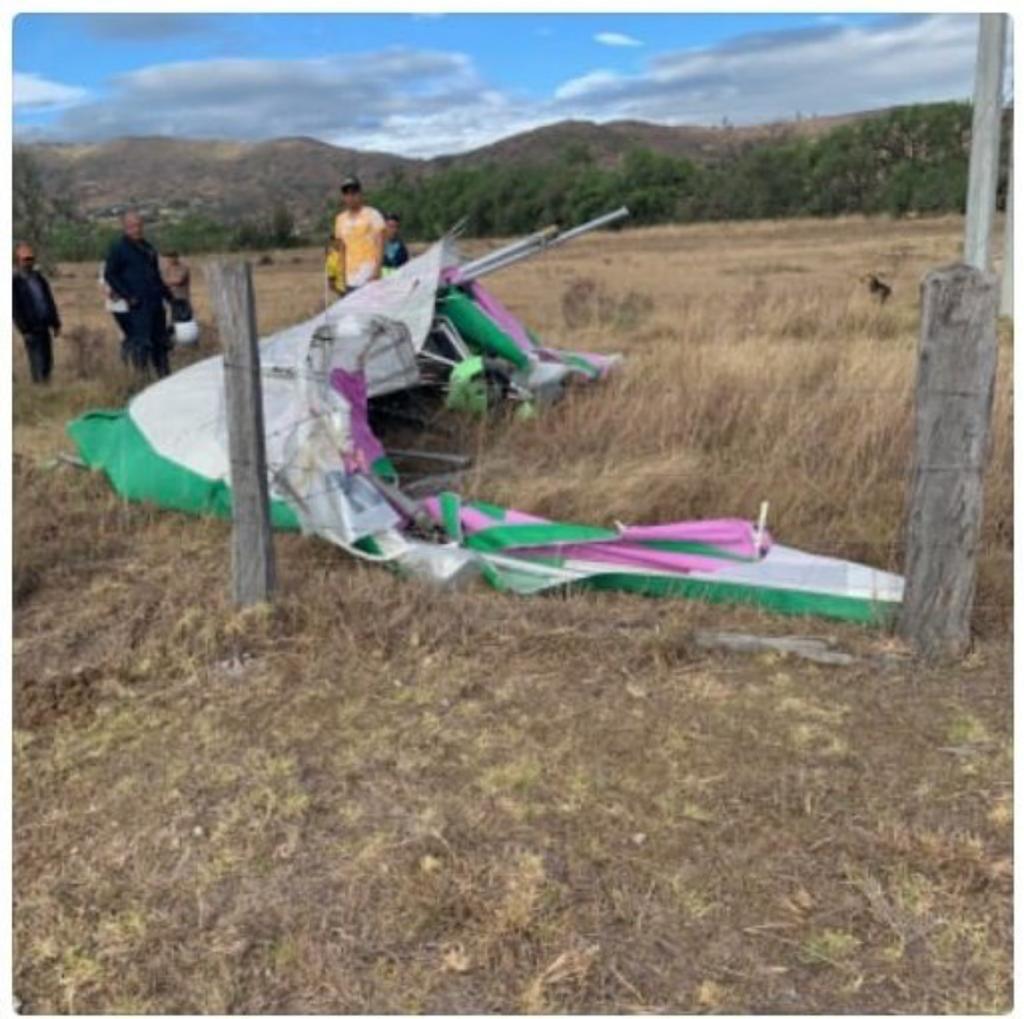 Aeronave ultraliviana cayó en Villa de Leyva, Boyacá
