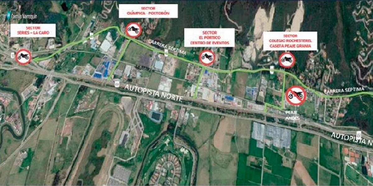 ¡Pilas! Las motos no podrán pasar por el peaje Andes de la Autonorte