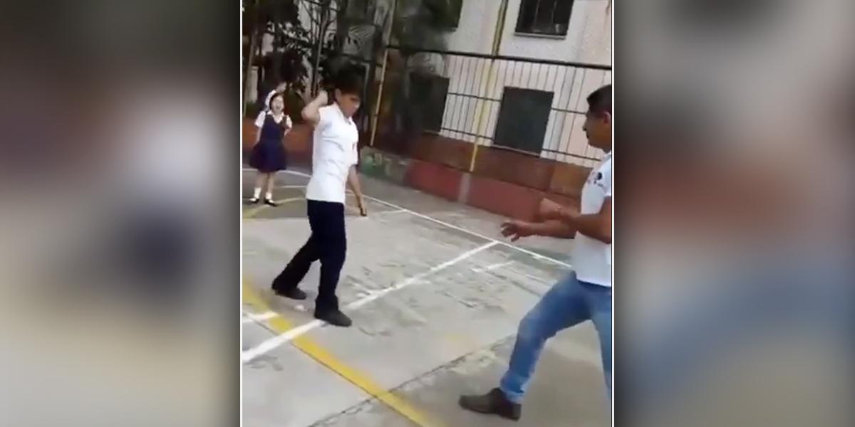 Video | Con cuchillo en mano, estudiante enfrentó y atacó a su profesor en Bucaramanga