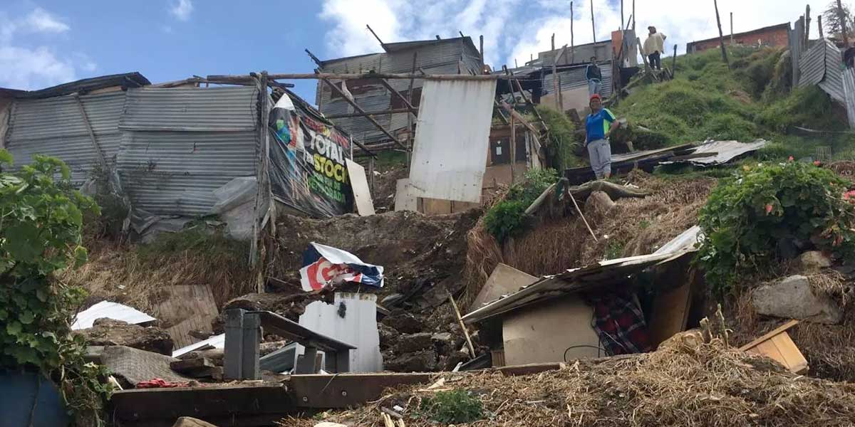 Alerta por deslizamientos en Ciudad Bolívar: hay 242 familias en riesgo