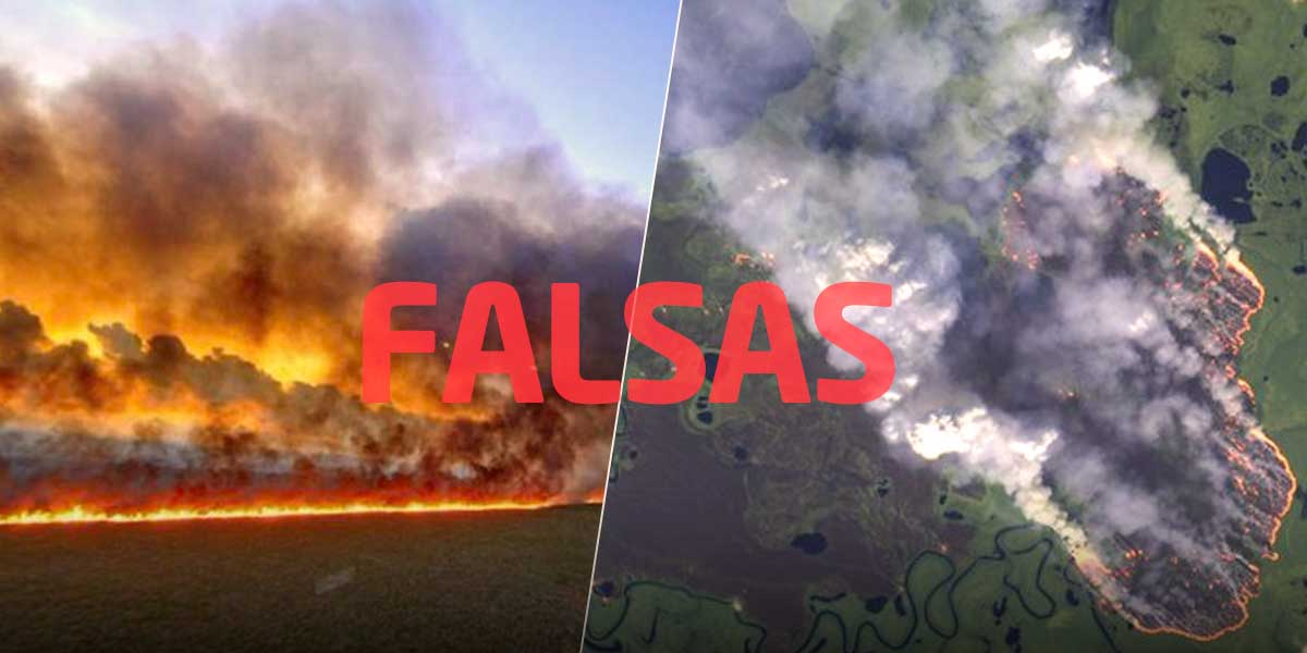 ¡No las compartan más! Estas imágenes del incendio en la Amazonía son falsas