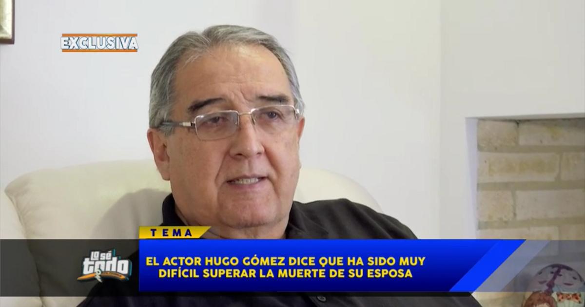 """""""Amor también es dejar ir"""": profunda reflexión del actor Hugo Gómez tras la muerte de su esposa"""