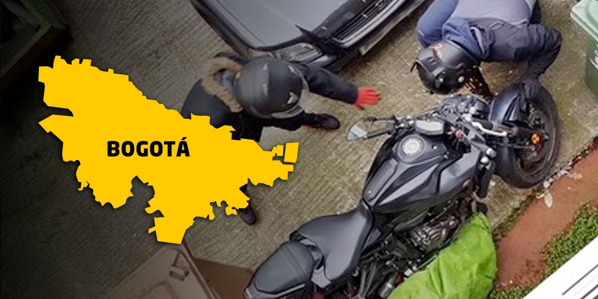 Los lugares y las horas donde más roban motos en Bogotá