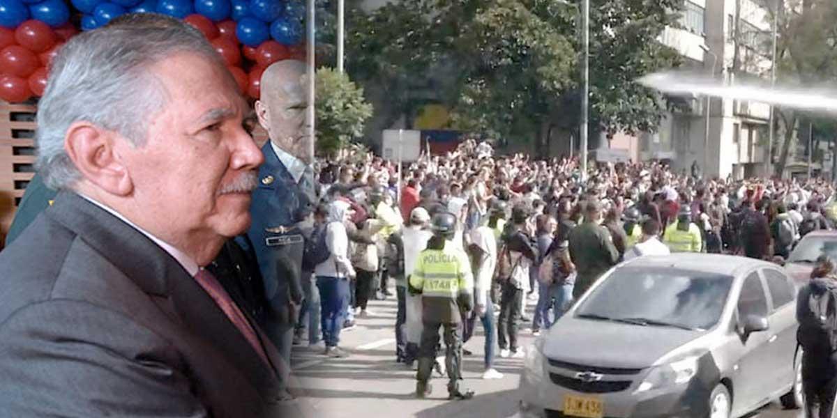 Ministro de Defensa asegura que las protestas estudiantiles están infiltradas