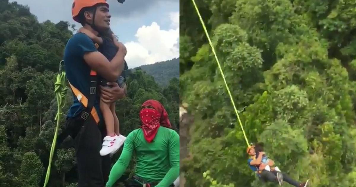 ¿Irresponsabilidad extrema? El video que demuestra si hombre sí se lanzó de bungee con su hija sin arnés