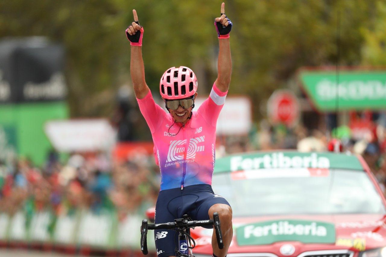¡Heroico! Higuita ganó en solitario la 18ª etapa de La Vuelta; 'Superman' López recuperó la camiseta blanca